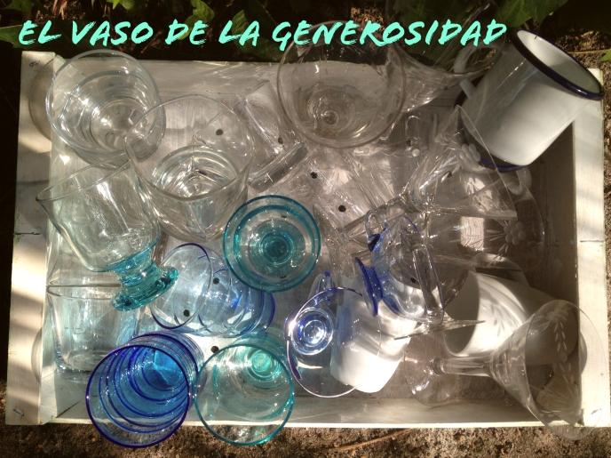 el vaso de la generosidad