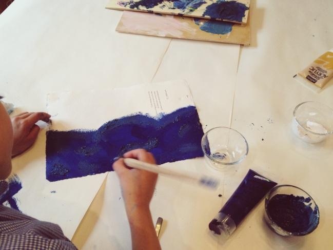 Pintando con jabon